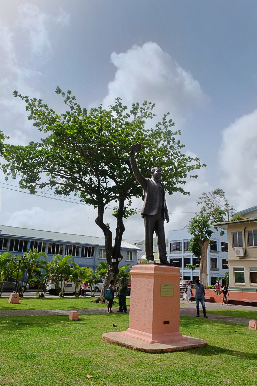Sir John Compton castries self-guided walk statues