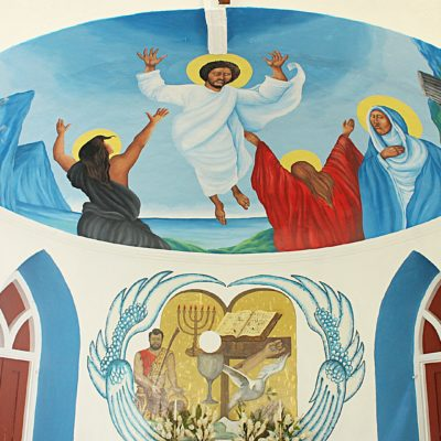 St. Omer church murals at River Doree Church in St. Lucia
