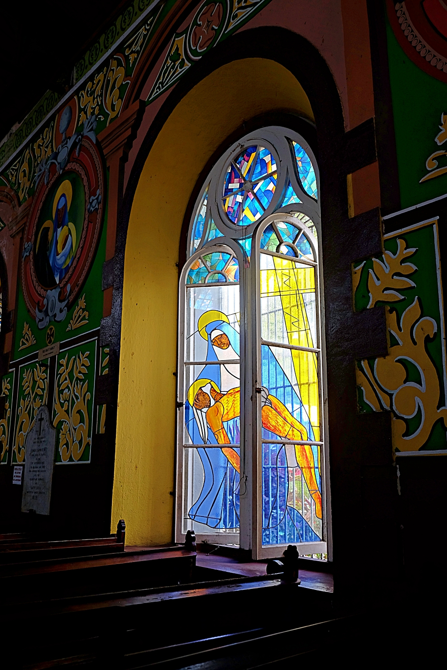 Castries Cathedral Stained glass window