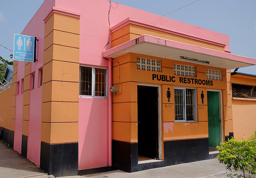 public washroom castries