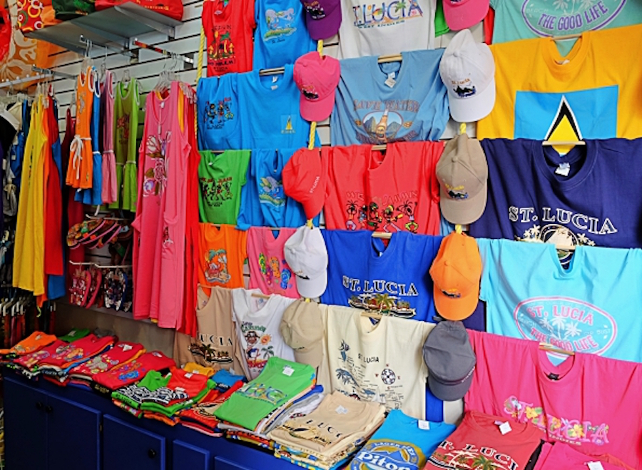 Authentic St. Lucia souvenirs