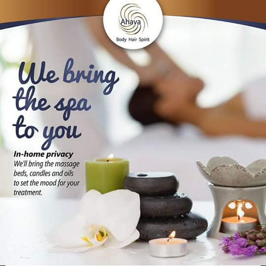 ahava home spa treatments service bring the spa to you