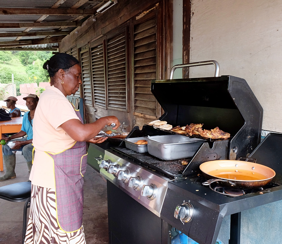 Eat like a local at Tata's Roadside Eatery near Gros Piton trail