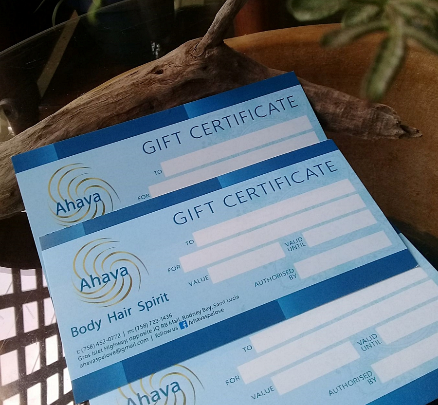 ahava day spa gift certificates - great for celebrations