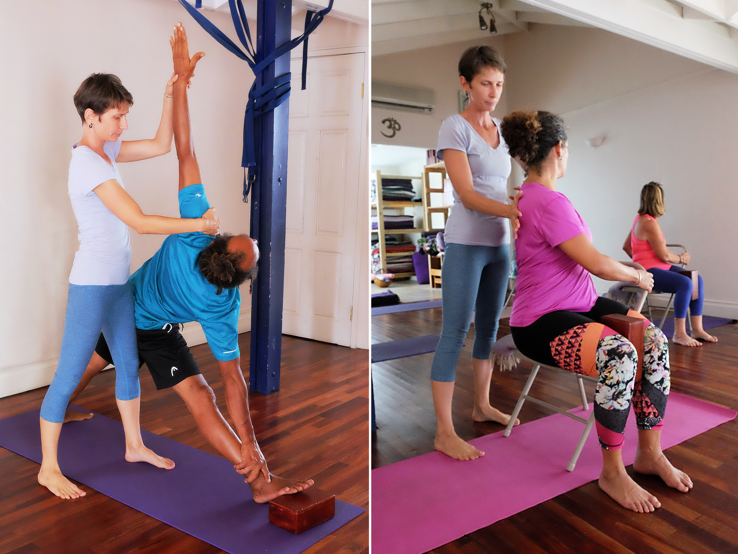 yoga with lenka iyengar small classes in Saint Lucia Rodney Bay personalised yoga practice