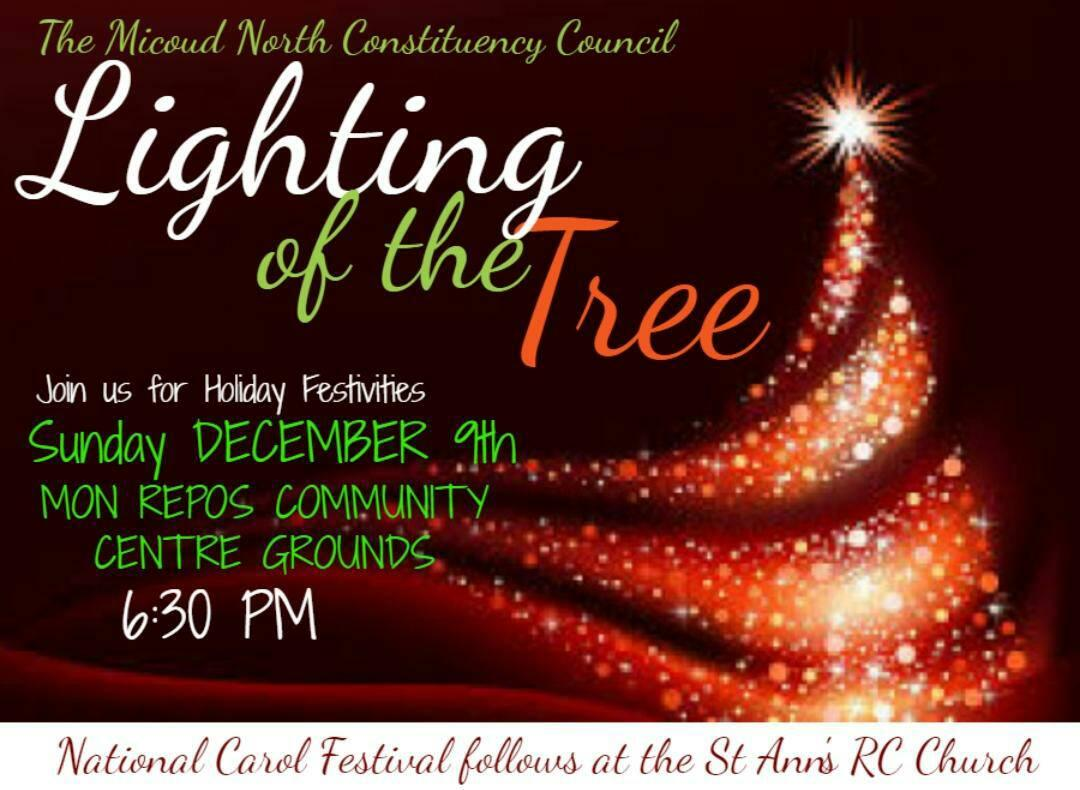 what to do st lucia traditional christmas tree lighting ceremony mon repos