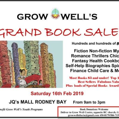 Grow Well's Annual Book Sale – donate and buy