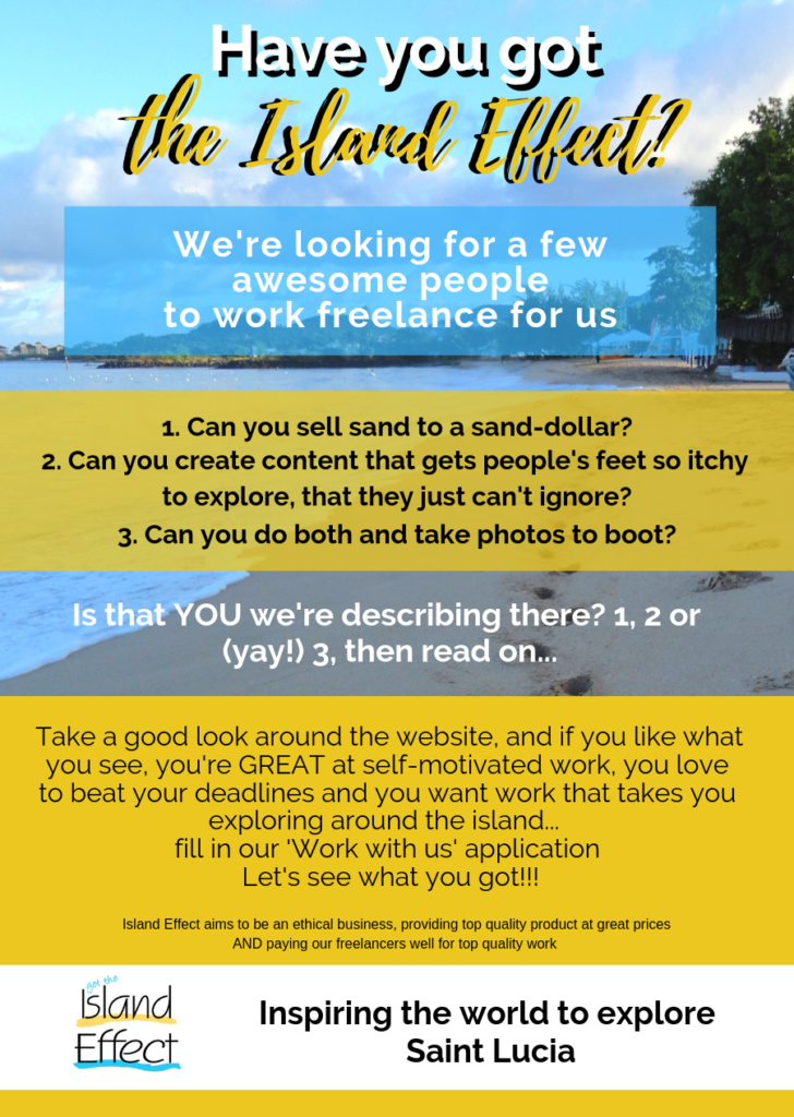 freelance travel writing jobs, content creators, bloggers, sales, work freelance with island effect - great pay, great work