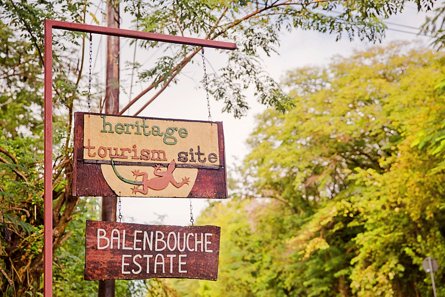 sign for the entrance to Balenbouche Estate Heritage tourism