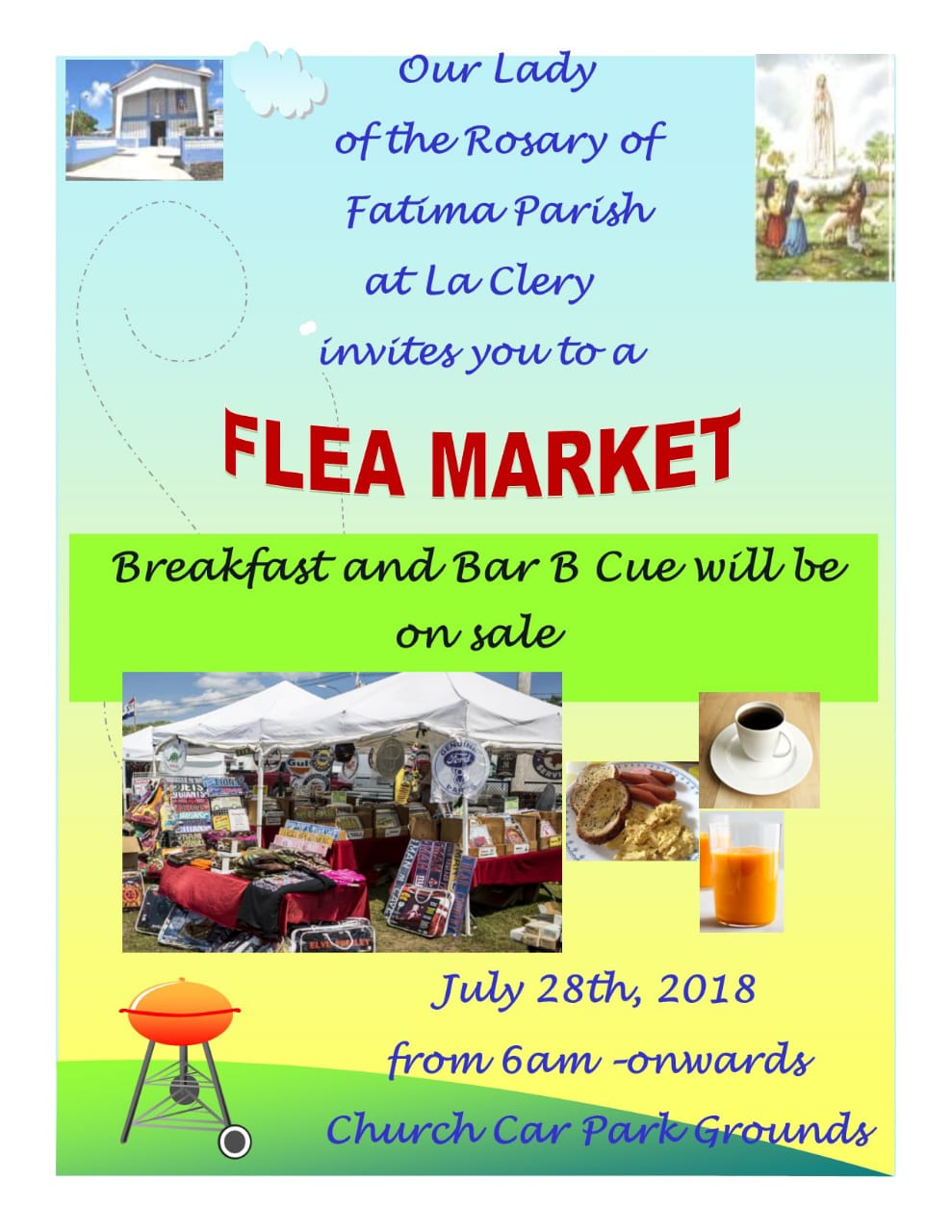 Flea Market and BBQ at Our Lady of Fatima Church La Clery