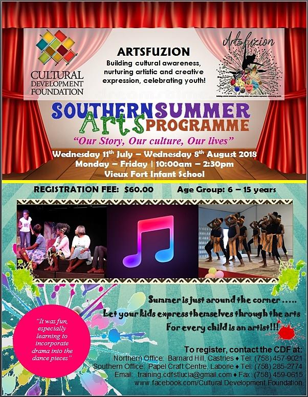 Southern Summer Arts Programme Saint Lucia