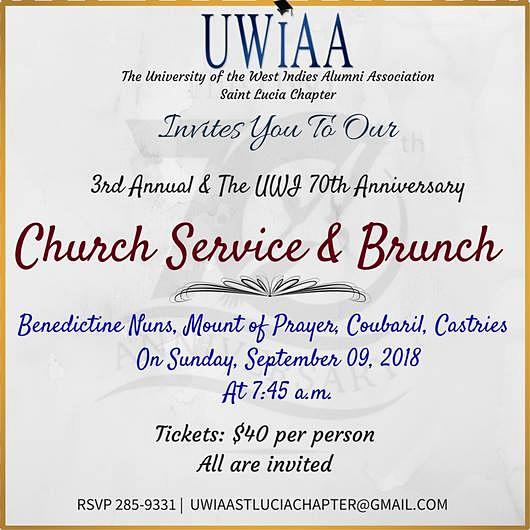 UWIAA 70th Anniversary of UWI Church service and brunch