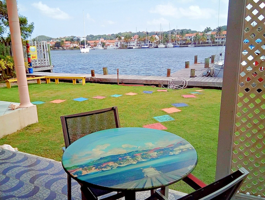 cafe art table scenic view