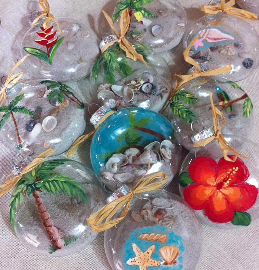 christmas baubels at Island Mix
