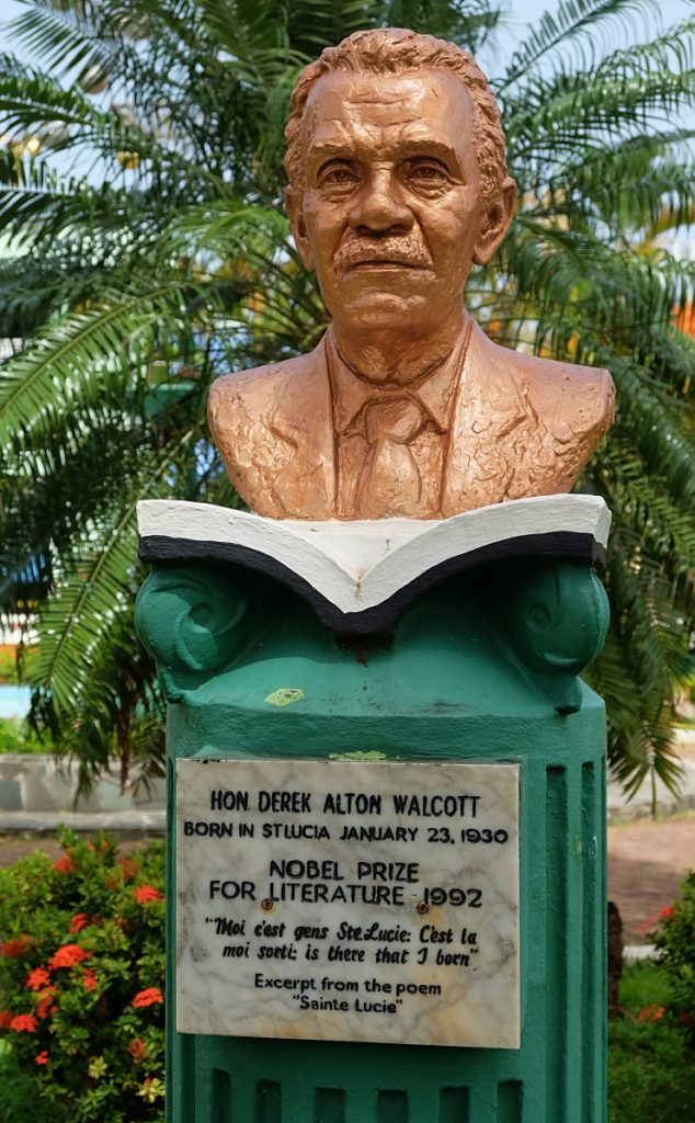 derek walcott statue in castries saint lucia self guided walks