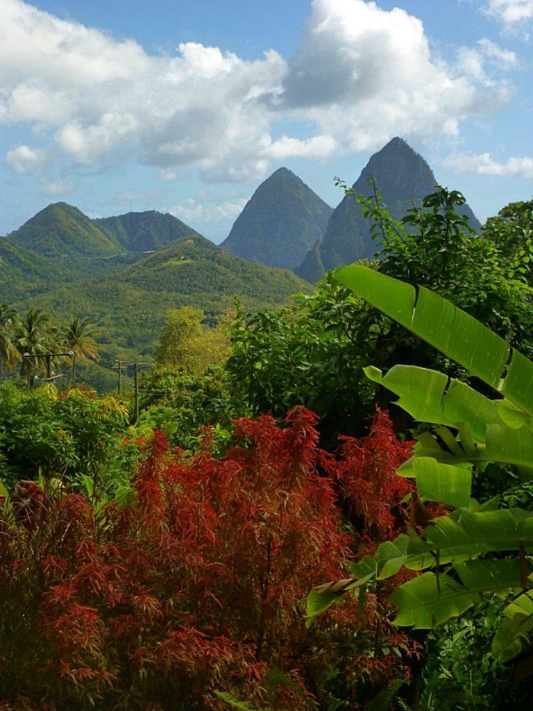 Saint Lucia pitons, soufriere, jade mountain hotel, sugar beach, maranatha gardens