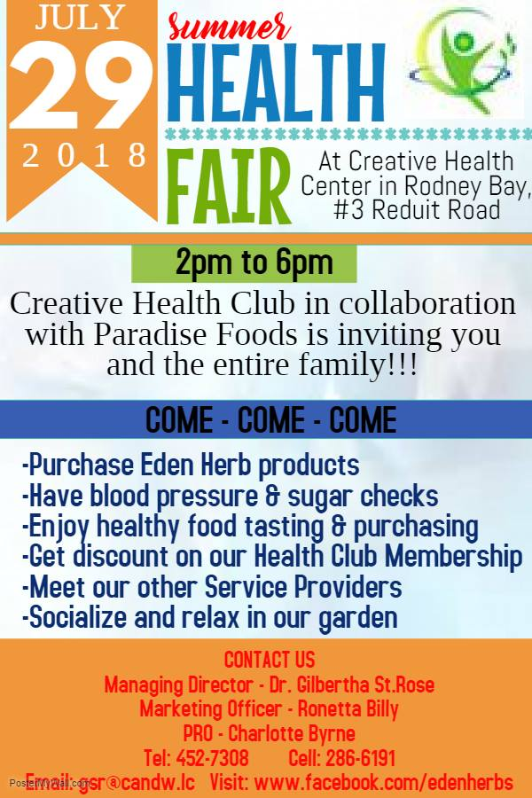 Eden Herbs Creative Health Centre Summer Health Fair