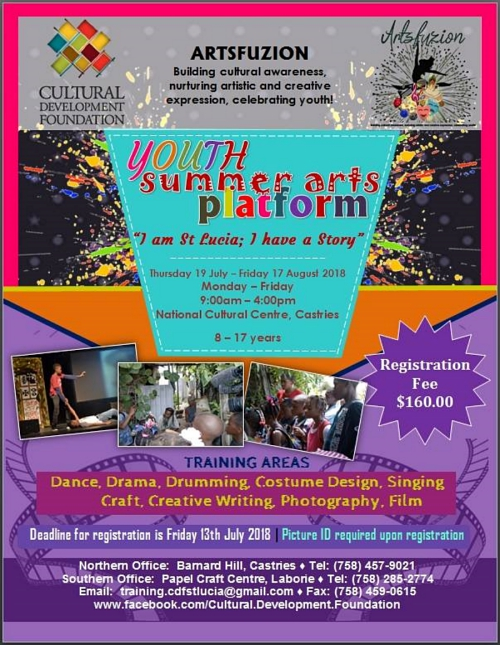 Summer arts camp st lucia