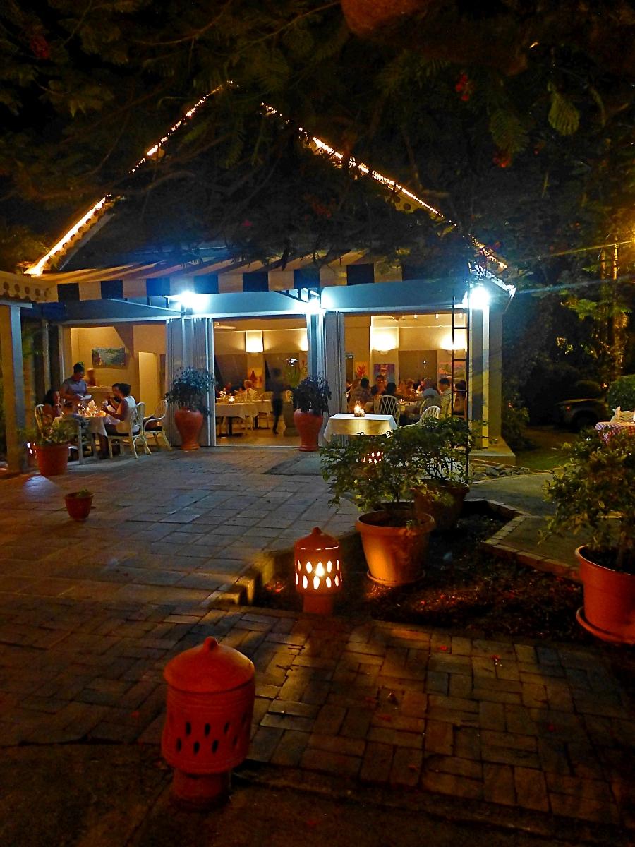 Romantic lighting at Buzz Restuarant Rodney Bay