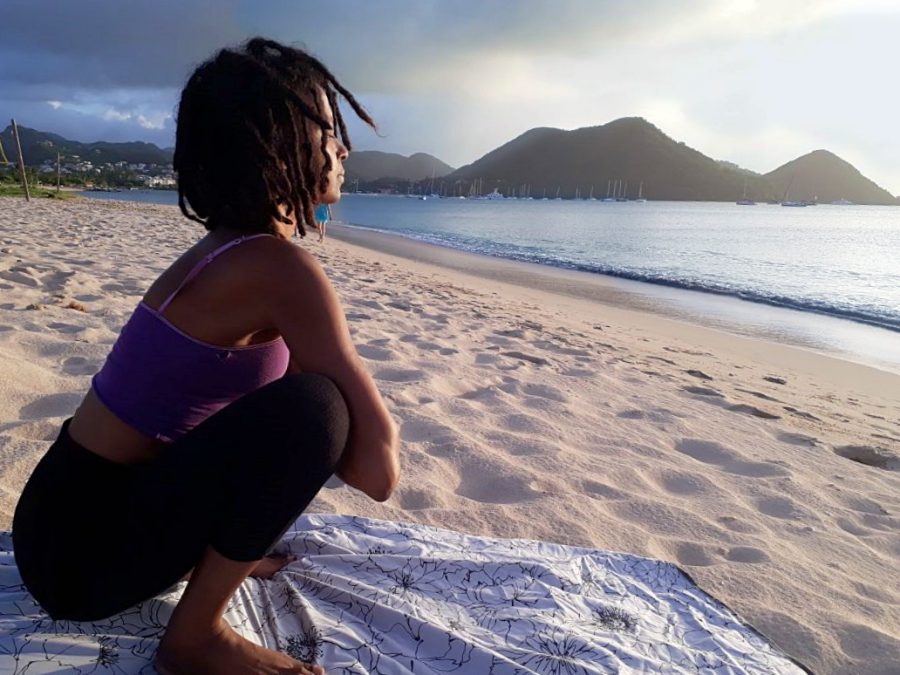 Yoga Instructor Janelle from Yoga with Ja St Lucia
