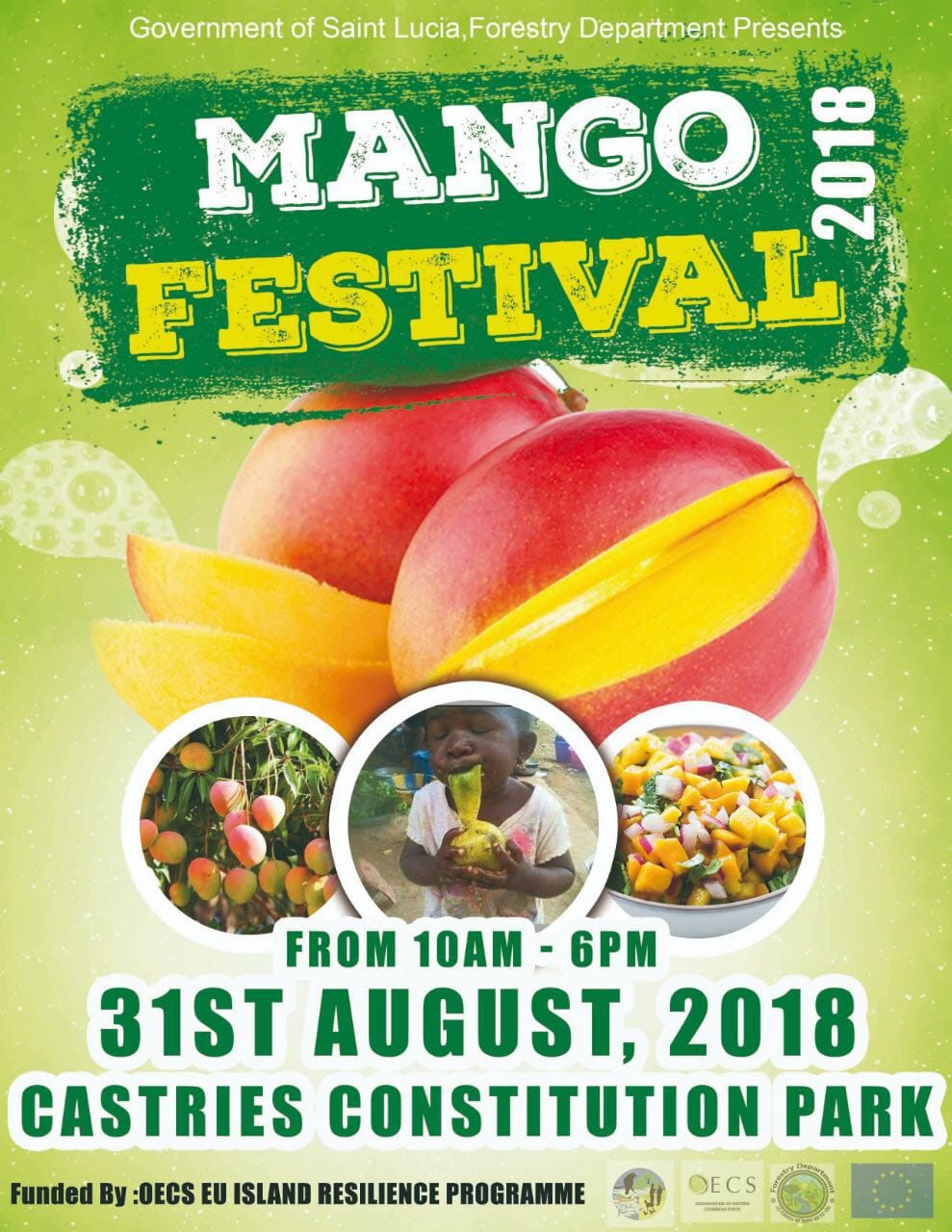 Mango food festival - constitution park castries - come try all sorts of mango delights