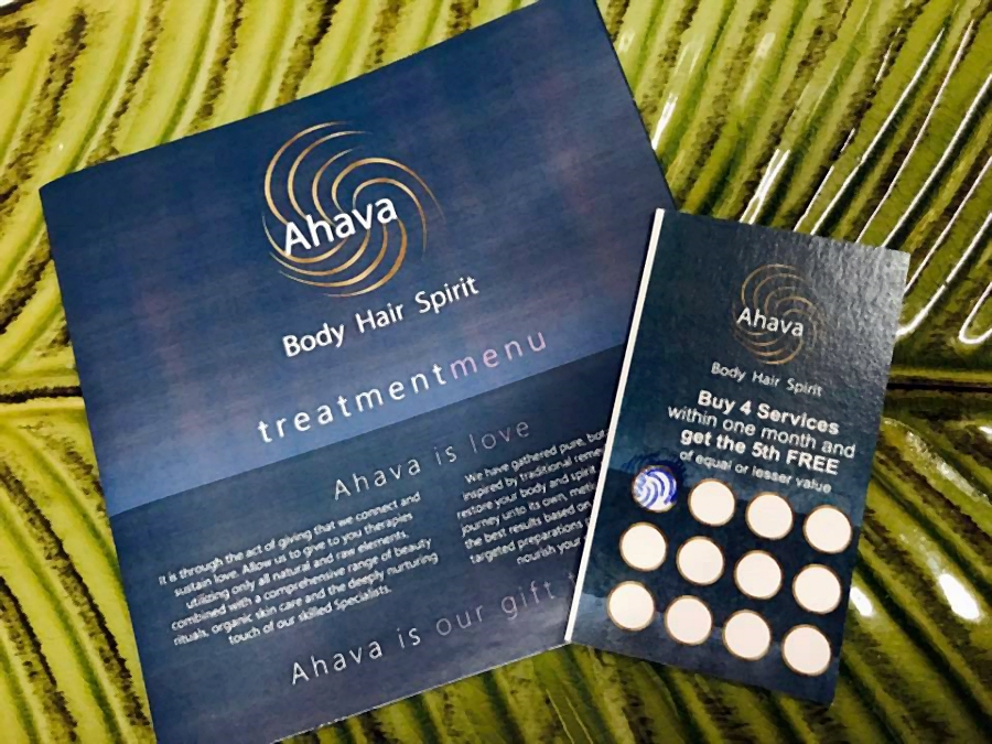 spa Loyalty card discounts and bonus for regular customers at Ahava Spa in Rodney bay st lucia
