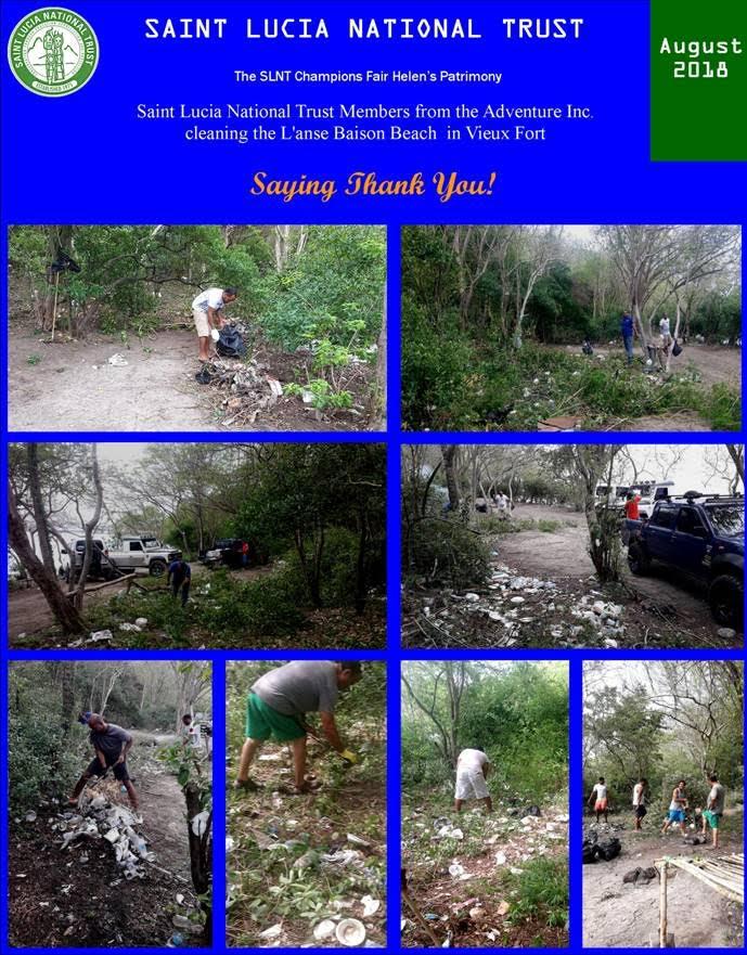 Beach Clean Up Saint Lucia National Trust
