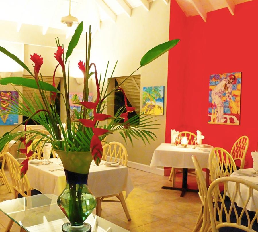 inside seating at Buzz Restaurant near Bay Gardens Beach Hotel