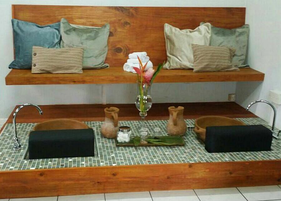 Luxury pedicure at Ahava body hair and spirit day spa near IGY Rodney Bay Marina