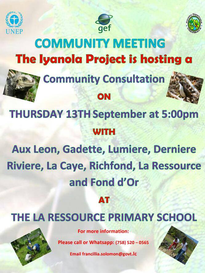 what to do saint lucia events calendar 13th September iyanola project consultation