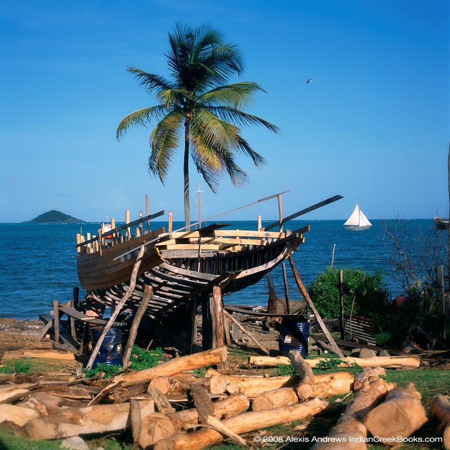 Vanishing Sail photo of a carriacou sloop traditional Caribbean boatbuilding sailing