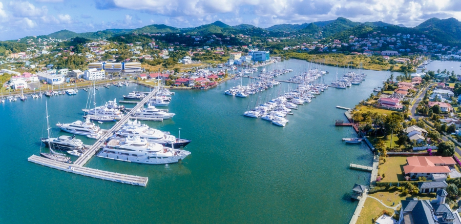 Getting to Saint Lucia arriving by yacht at IGY Rodney Bay marina