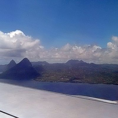 arriving into st lucia hewanorra airport see the pitons