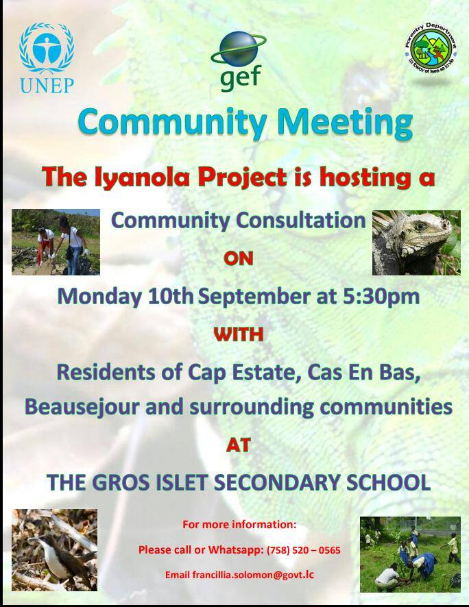 what to do saint lucia events calendar iyanola project community consultation