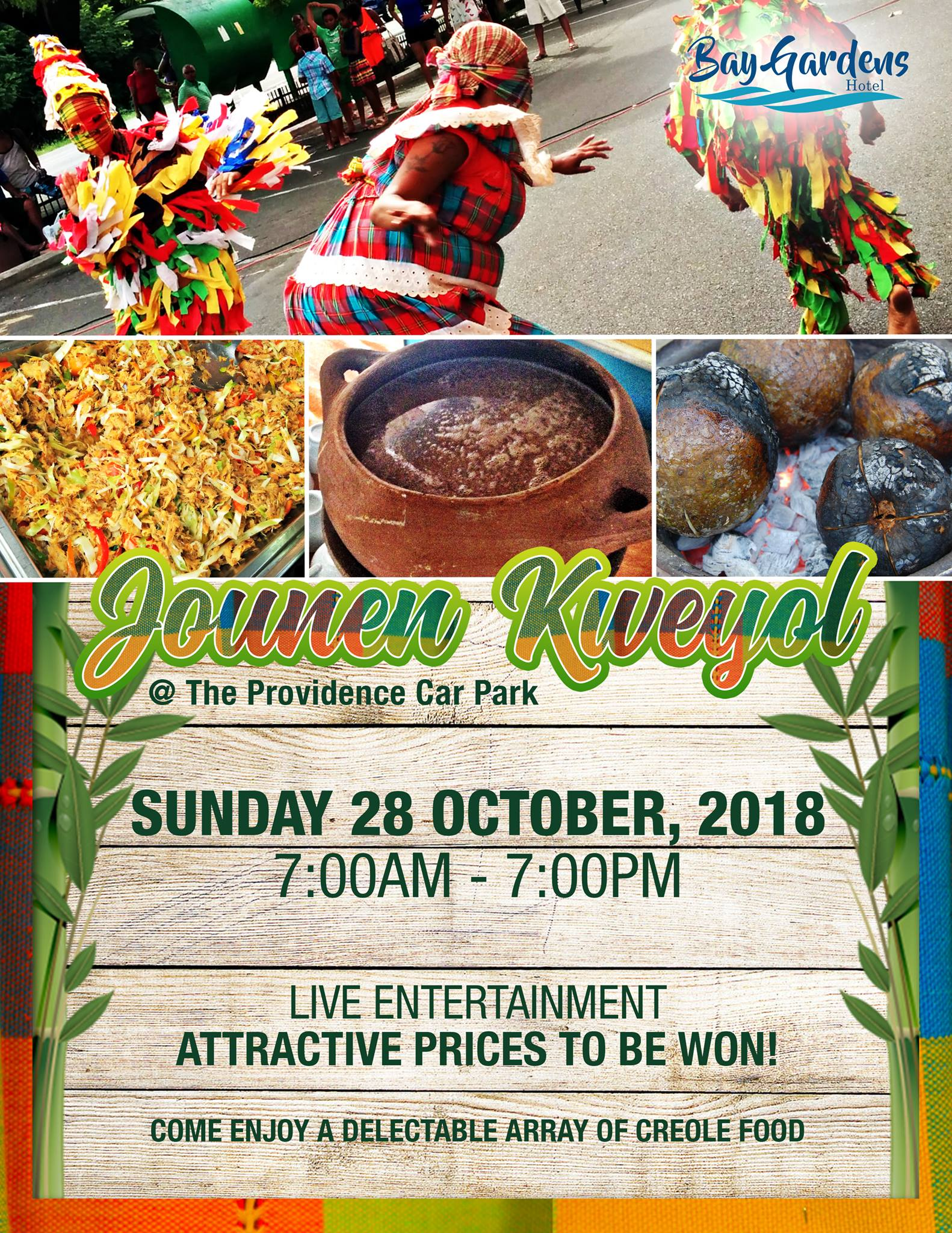 Bay Gardens Resorts Kweyol Jam - all day food, entertainment, Prizes
