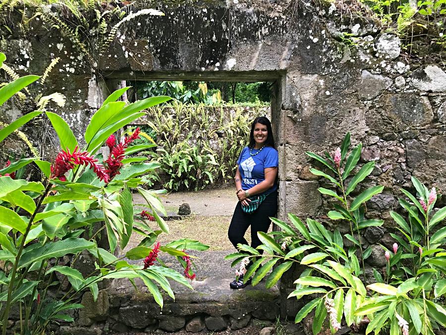 Ana Saldana of Life the Hunter at the Pigeon Island National Landmark