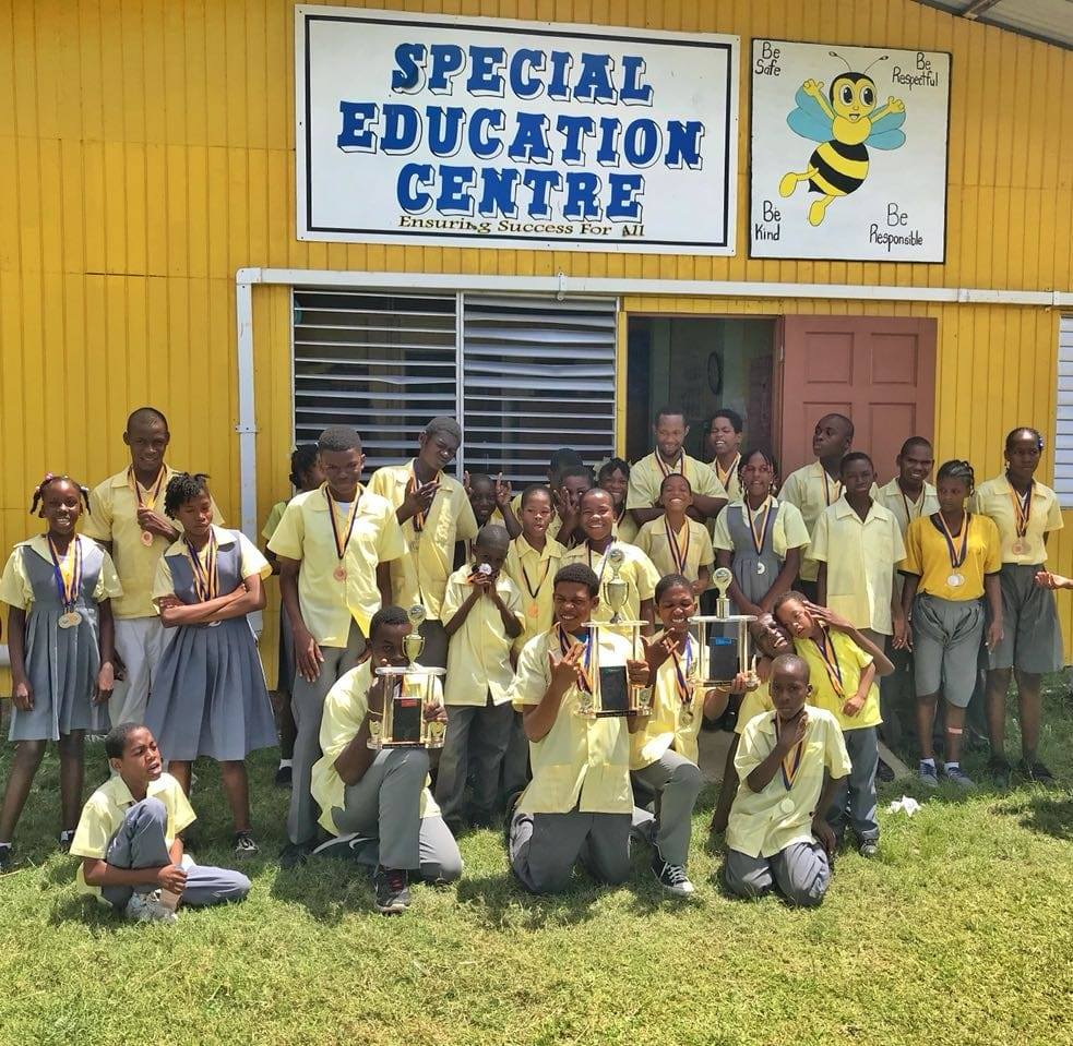 Gwan Zafe show Vieux Fort Special Education Centre