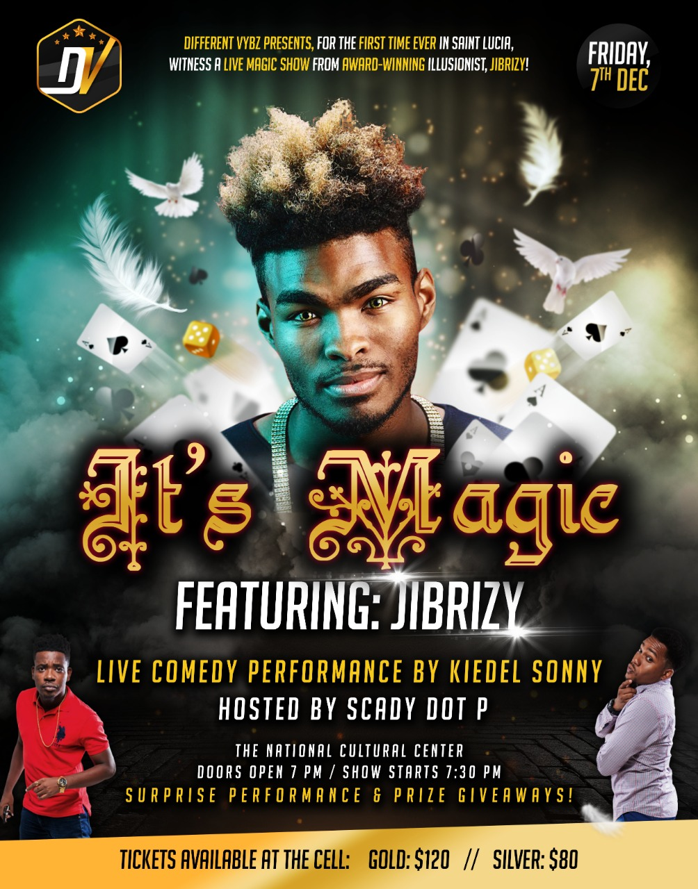 what to do saint lucia magician magic comedy national cultural centre