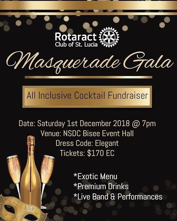 what to do saint lucia Rotaract Grande Masquerade Gala fundraising