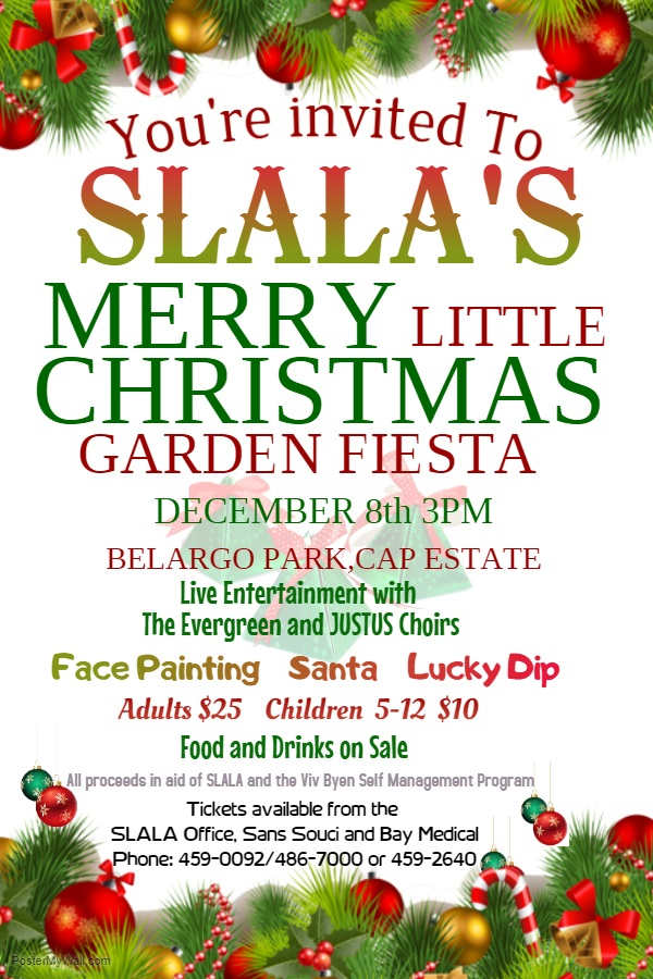 SLALA Xmas Fiesta 2018 fundraising concert in a beautiful setting for Arthritis and Lupus association
