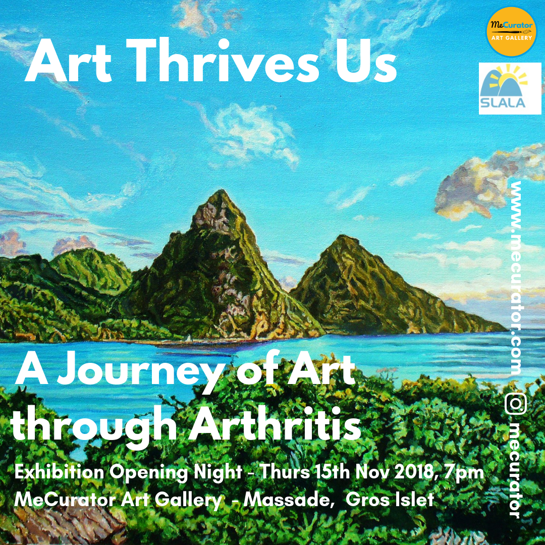 art thrives us exhibition opening and talk at mecurator art gallery, gros islet, what to do saint lucia