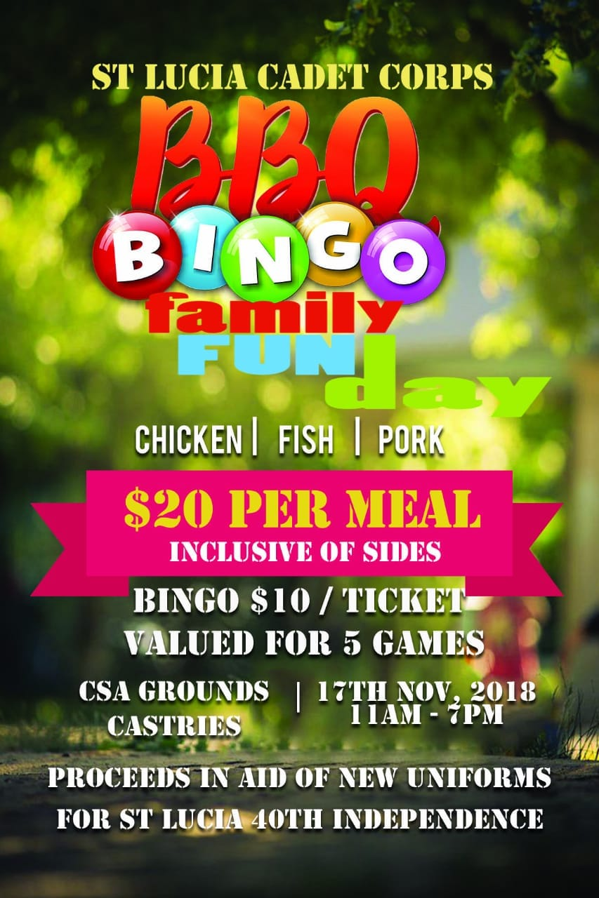 fundraising barbeque and bingo at the CSA centre, Sans Souci, Castries