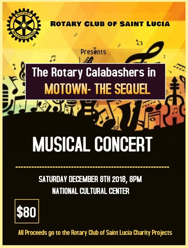 what to do in saint lucia voluntourism motown the sequel rotary calabashers fundraising concert