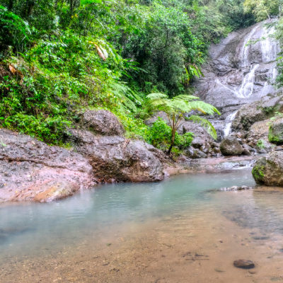 Anse la Raye Falls – beauty, south of the village