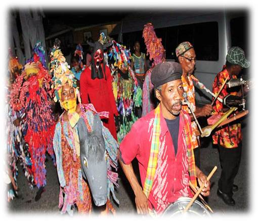 traditional christmas masquerade papa djab papa jab toes