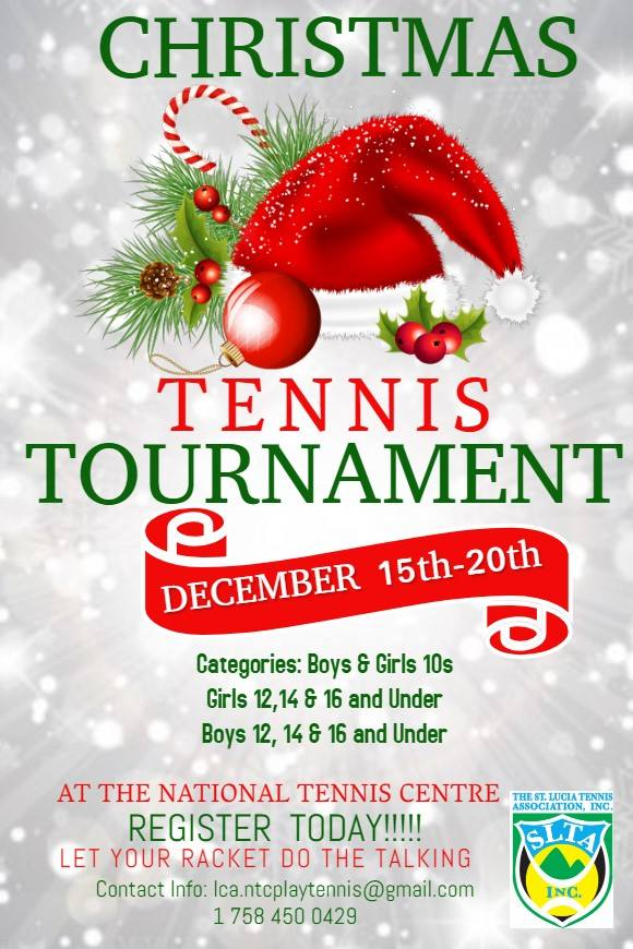 what to do st lucia sports Christmas Tennis Tournament Beausejour Gros Islet