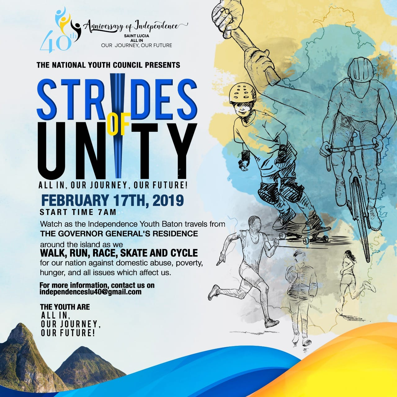 what to do in saint lucia 40th anniversary of independence national youth council round the island baton run