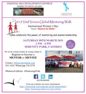 2019 Global Mentoring Walk Flyer