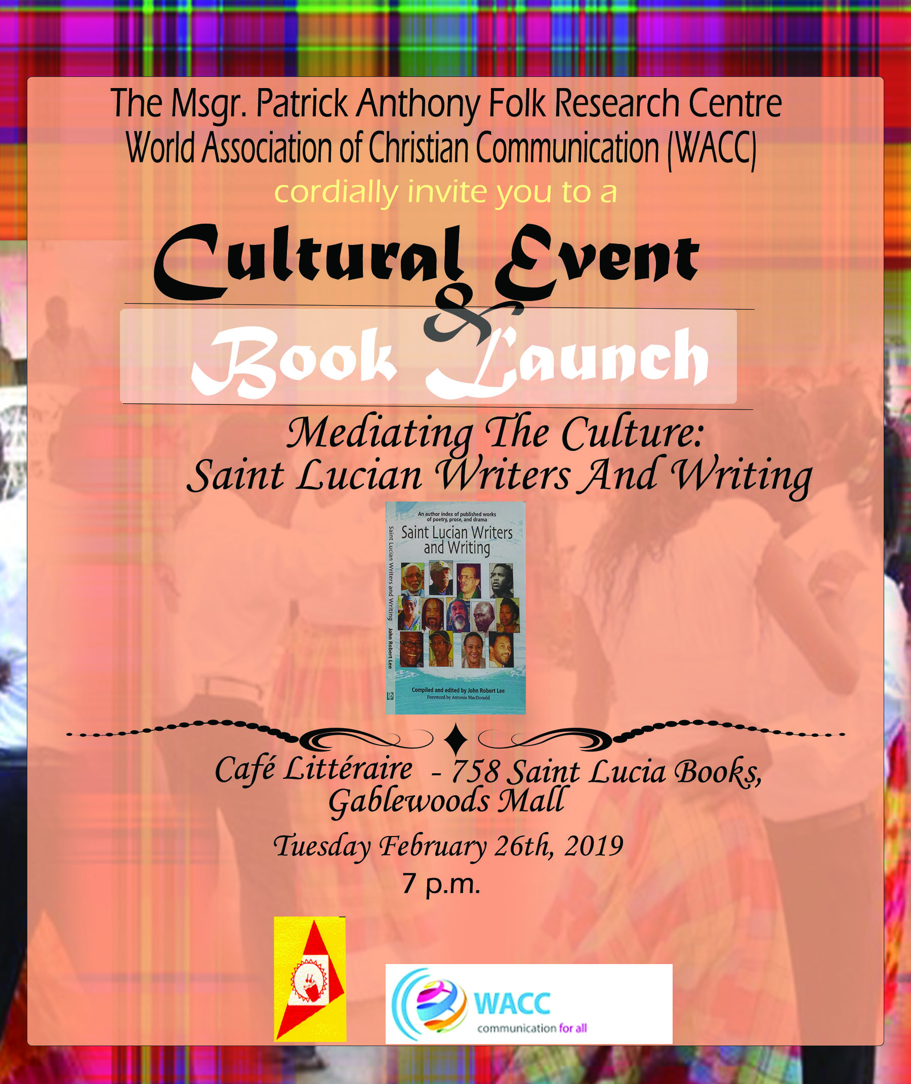 what to do in st lucia free Cultural Event and Book Launch 2019 invitation