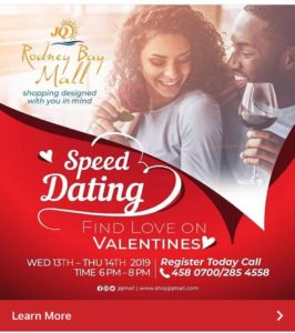 two evenings of fun speed dating at Jq rodney bay mall - call to register